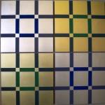 Wandtafeln Zitronengold/grün, Weißgold/blaugrau