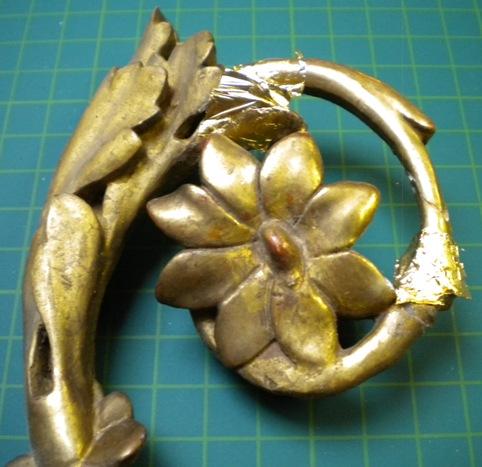 Restauriertes Spiegelrahmen-Ornament